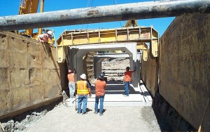 WSDOT installs a vault to manage stormwater near Bellevue, Wash. Image courtesy of WSDOT