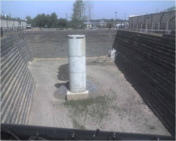 A dry detention basin.  Credit: James Lenhart, P.E., D.WRE