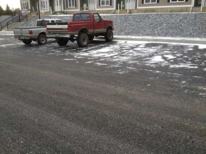 The pervious parking lot at Handy's Hotels and Rentals LLC. <em>Photo credit: Let it Rain</em>