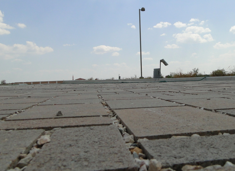 The Texas A&M AgriLife Research & Extension Center at Dallas is testing five parking surfaces. Interlocking concrete blocks are pictured here.