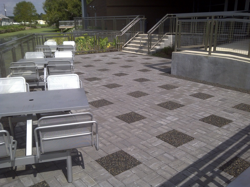 Xeripave, a pervious paver, used with permeable pavers. Photo courtesy of Xeripave Super Pervious Pavers.