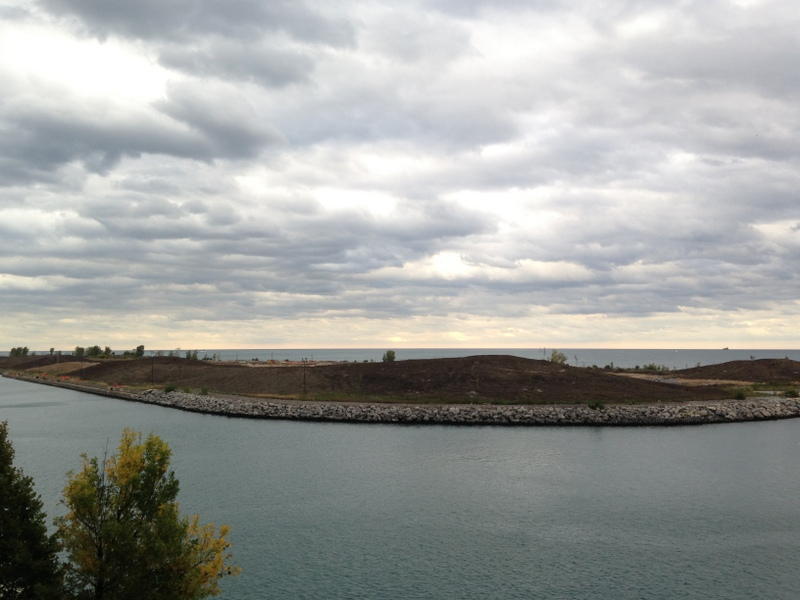 Northerly Island is a man-made island that will serve as the future site of a 37-ha (91-ac) urban nature preserve.