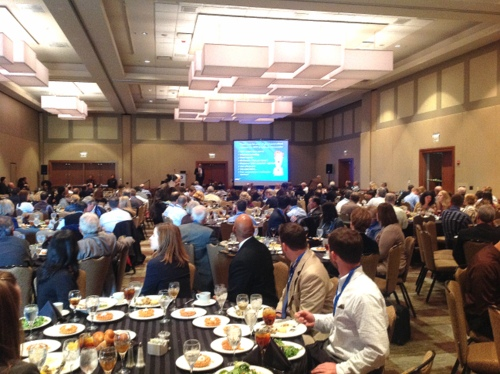 Andrew Reese, vice president at AMEC, kicks off Stormwater Congress programming with a keynote during the luncheon.
