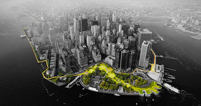 Harbor Berm at the Battery, part of the BIG U, a Rebuild by Design submission.