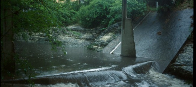 Waller Creek is one of the oldest monitoring sites in the Austin area. First a U.S. Geological Survey site in the 1950s, it is now monitored by the City of Austin through its Texas Pollutant Discharge Elimination System permit. Image credit: COA-WPD-WQM