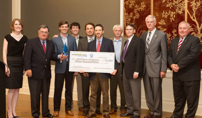 Dalhoff Thomas design studio and The Corradino Group won first place in the Memphis-Shelby County Low Impact Development Design Competition.
