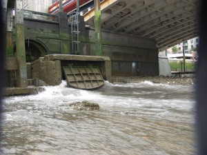 Discharge point at Vauxhall Bridge