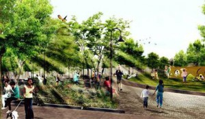 Rendering of Southwest Resiliency Park. Image credit: UNISDR