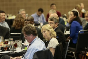 Attendees listen to the sold-out 2014 Stormwater Congress luncheon speaker. Image credit: Oscar & Associates