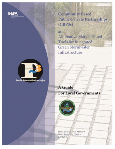 COVER: Community Based Public-Private Partnerships (CBP3) and Alternative Market-Based Tools for Integrated Green Stormwater Infrastructure