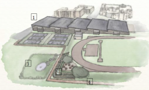 A rendering by the Queens College, City University of New York showing the team's proposed design.