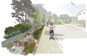 Visualization of the San Francisco Public Utilities Commission's Chinatown Green Alley Project. Image by: AECOM