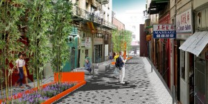 Visualization of the San Francisco Public Utilities Commission's  Yosemite Creek Daylighting Project. Image by AECOM