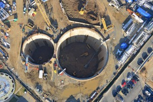 Lady Bird's journey begins with two tunnel shafts. Image by DC Water