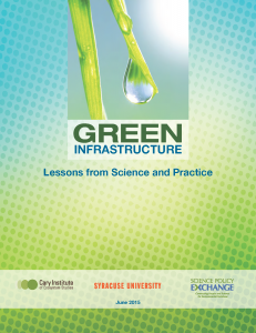 Green Infrastructure Lessons from Science and Practice Cover