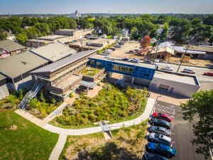 Aerial view of MWMO's backyard and building. Image by MWMO