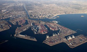 An aerial image of the Port and City of Long Beach. Image by Port of Long Beach