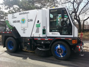 In addition, to its new public education campaign New York City sweeps more than 9600 km (6000 mi) of city roadways each day and maintains approximately 25,000 litter baskets around the city.