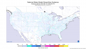 The National Water Model is the most exhaustive snapshot of American streamflow that has ever been available. (Courtesy NOAA Office of Water Prediction)