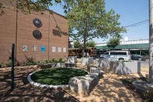 The Robert E. Peary School's playground received a green infrastructure upgrade that will capture about 1419 m3 (375,000 gal) of stormwater. (Credit: Tim Schenck)