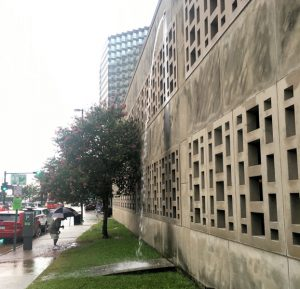 WEFTEC 2016 service project volunteers will construct two bioswales at City Hall in New Orleans. Photo courtesy of Tyler Antrup, New Orleans City Planning Commission.