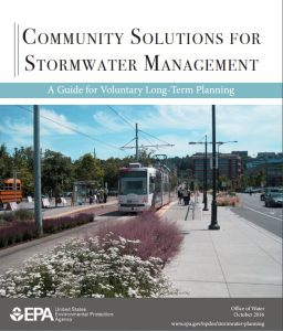 The U.S. Environmental Protection Agency (EPA) released a guide for long-term stormwater management planning that promotes the combined use of both green and gray infrastructure. Viewing stormwater runoff as a resource instead of as a nuisance drives many of the guide's recommendations. Photo courtesy of U.S. Environmental Protection Agency