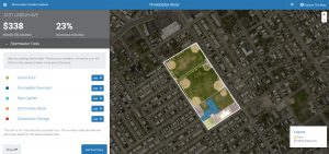 According to the Stormwater Credits Explorer, the Vogt Recreation Center could stand to save about $338 on stormwater management each month if it were to cover about 3250 m2 (35,000 ft2) of its outdoor play area with permeable pavement. Photo: Philadelphia Water.