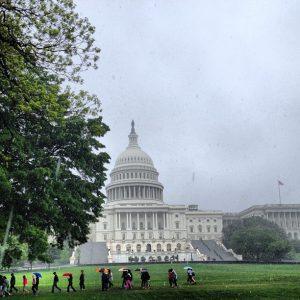 A new study by the National Center for Atmospheric Research warns that rain could fall up to four times more frequently and could be up to 70% more intense in the U.S. by the end of the century. Photo courtesy of Architect of the Capitol.