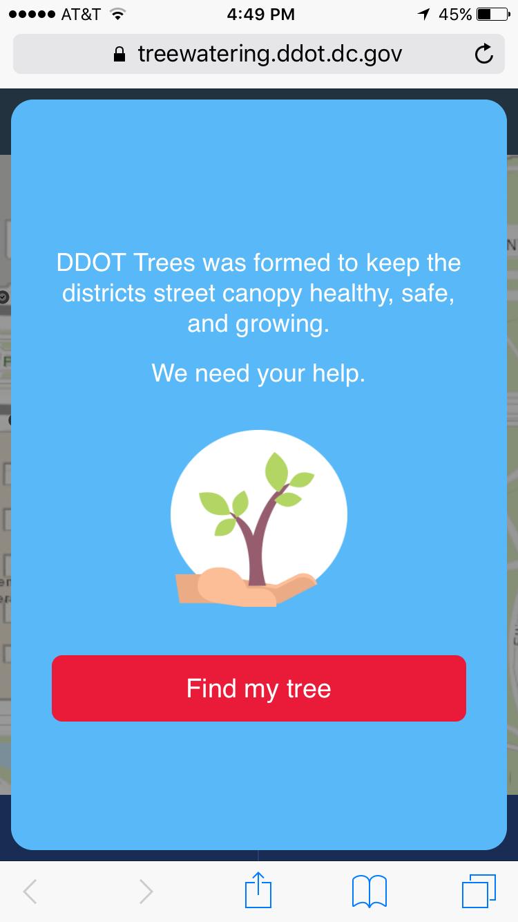 Washington, D.C., launches tree watering app