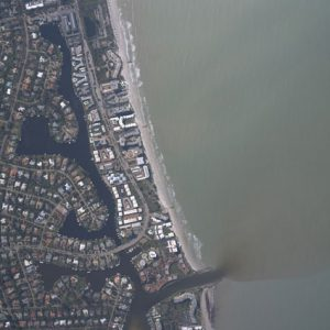 When coastal municipalities send untreated stormwater runoff into the ocean, both the environment and local tourism suffer. In Myrtle Beach, South Carolina, a long-term effort to transition away from direct drainage to the ocean is underway through 2052. (U.S. National Oceanic and Atmospheric Administration)